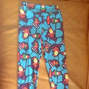 Lularoe kids Christmas leggings